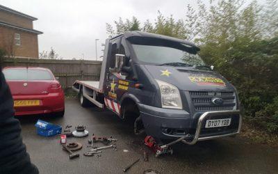 Ford front brake service, Eastbourne