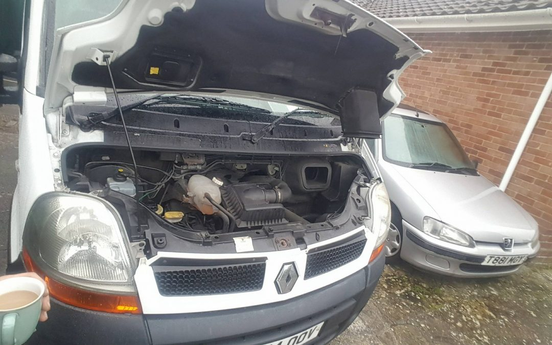 Starter motor and alternator on this van