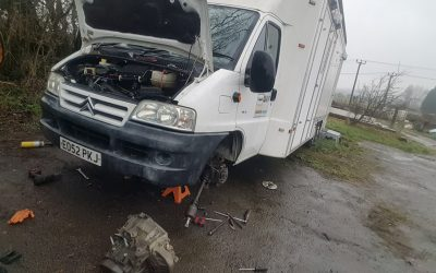 Clutch replacement in this Citroen relay near Brighton